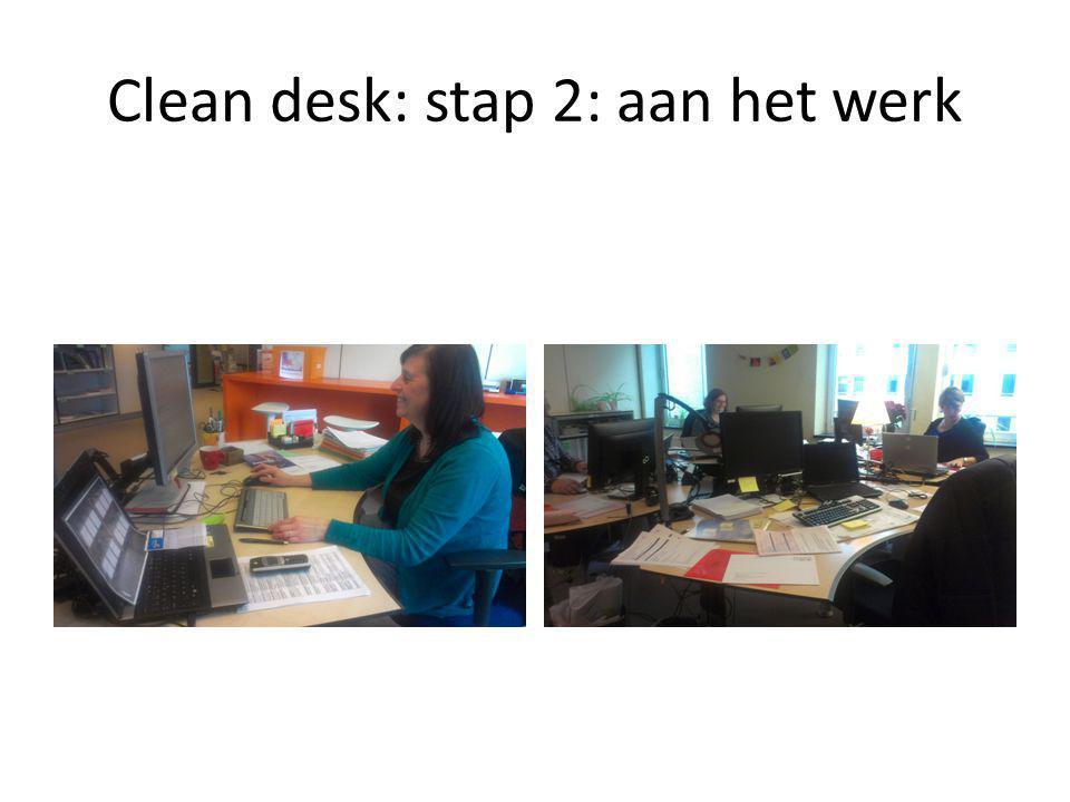 Clean desk: stap 3: ruim op