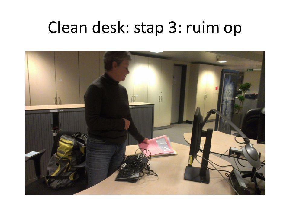 Clean desk: waarom .