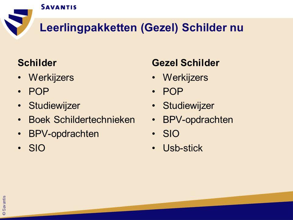 © Savantis Leerlingpakketten (Gezel) Schilder nu Schilder Werkijzers POP Studiewijzer Boek Schildertechnieken BPV-opdrachten SIO Gezel Schilder Werkij