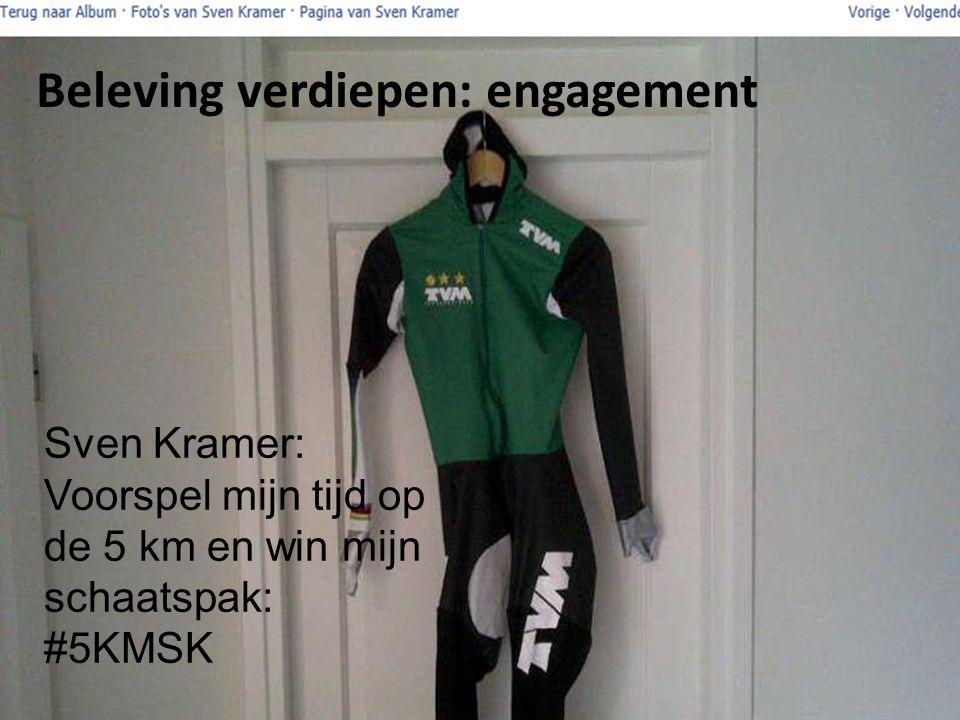 Sven Kramer: Voorspel mijn tijd op de 5 km en win mijn schaatspak: #5KMSK Beleving verdiepen: engagement