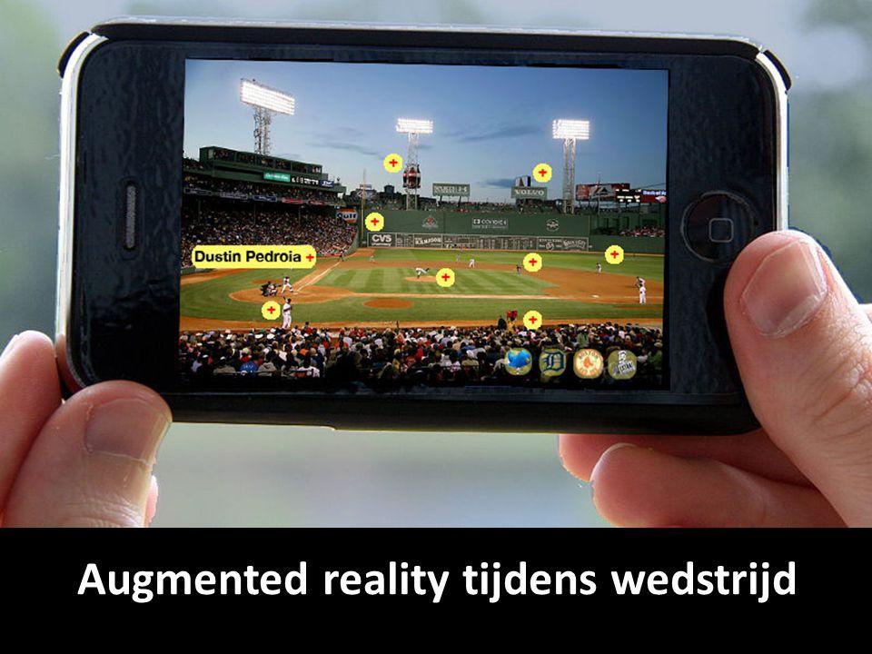 Augmented reality tijdens wedstrijd