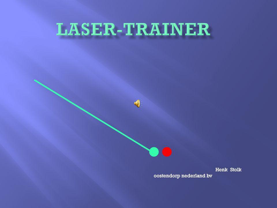 een laser - lichtspot die door de sporter wordt gevolgd bij training of wedstrijd een optische haas