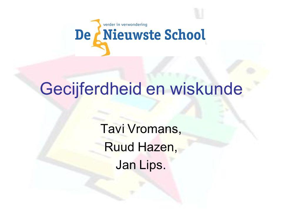 Gecijferdheid en wiskunde Tavi Vromans, Ruud Hazen, Jan Lips.