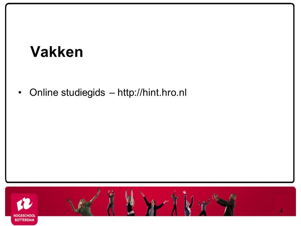 Vakken Online studiegids – http://hint.hro.nl 4