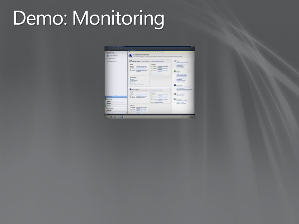 Demo: Monitoring