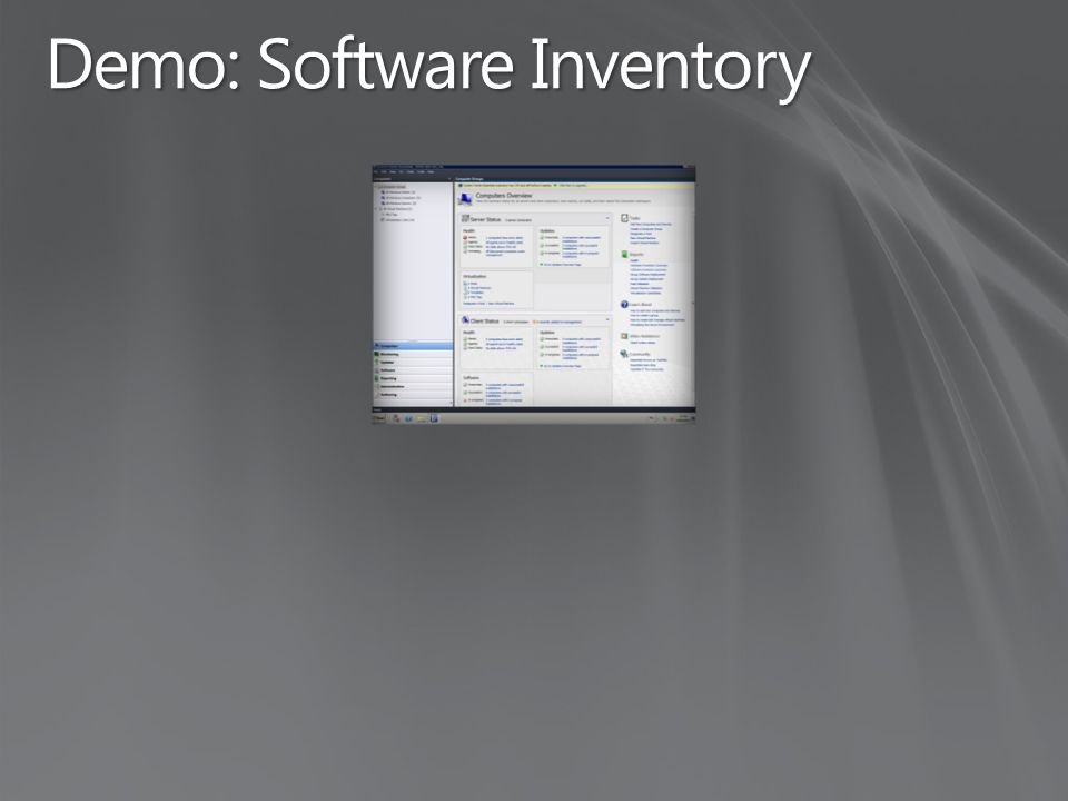 Demo: Software Inventory