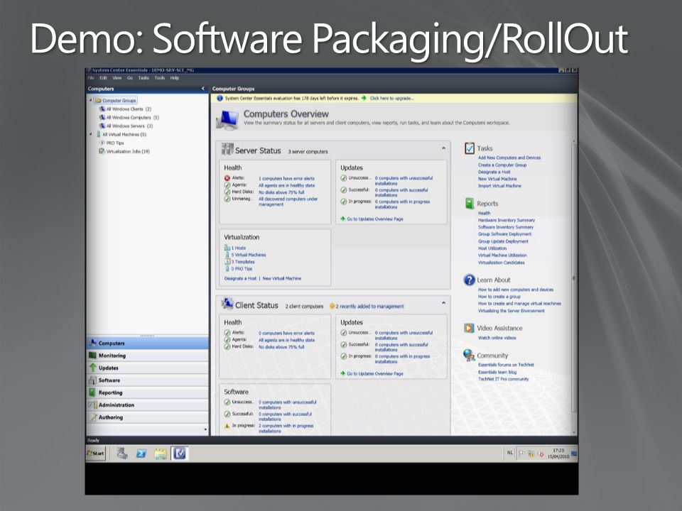 Demo: Software Packaging/RollOut