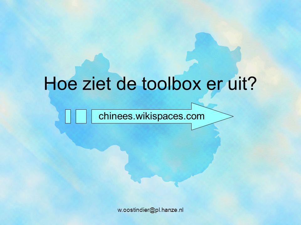 Hoe ziet de toolbox er uit? chinees.wikispaces.com