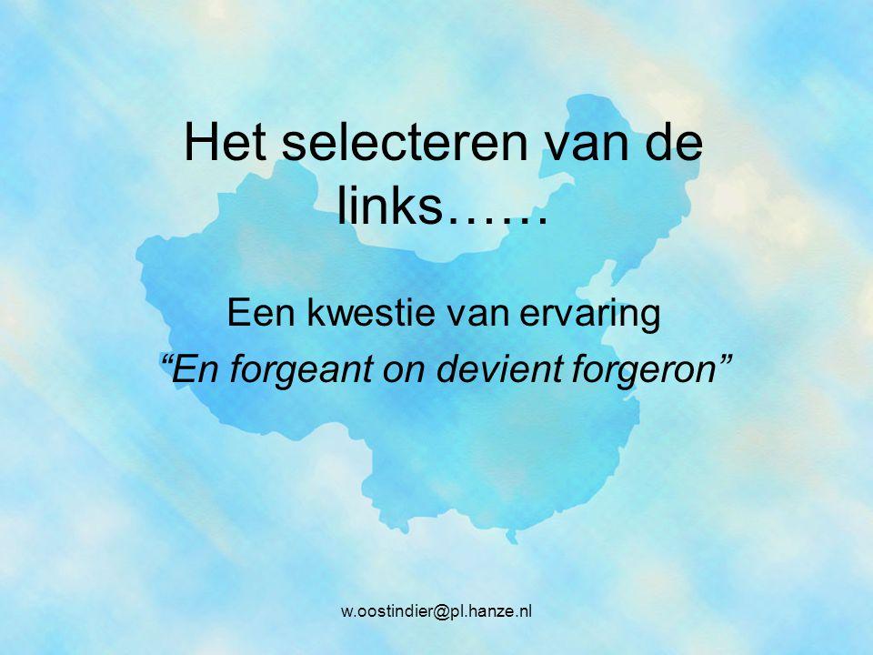 In dit geval … Stroke order in Chinese w.oostindier@pl.hanze.nl