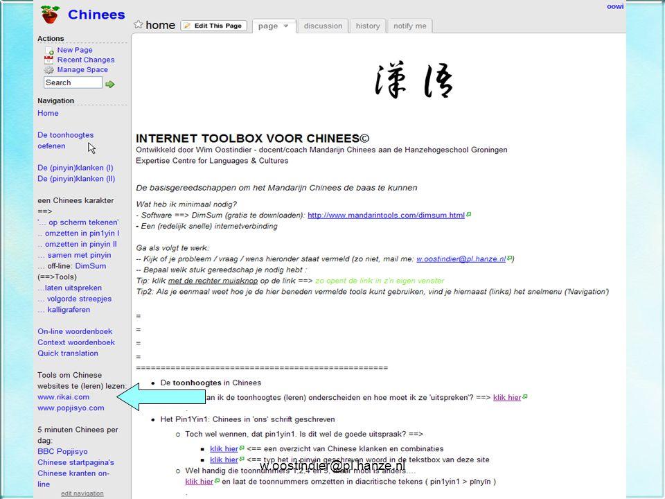 w.oostindier@pl.hanze.nl Oplossing staat natuurlijk in.... De Internet Toolbox