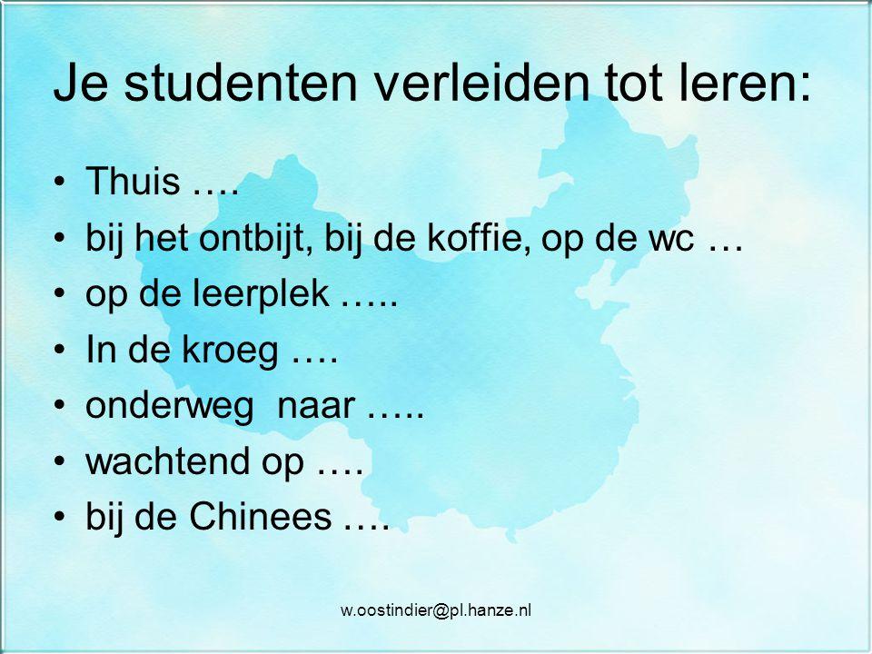 Je studenten verleiden tot leren: Thuis ….