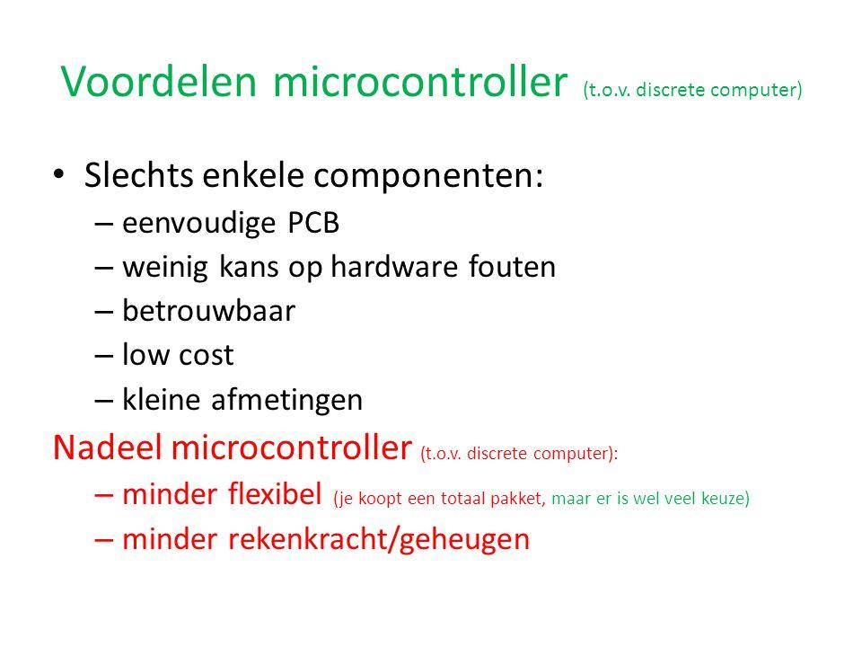 Voordelen microcontroller (t.o.v.