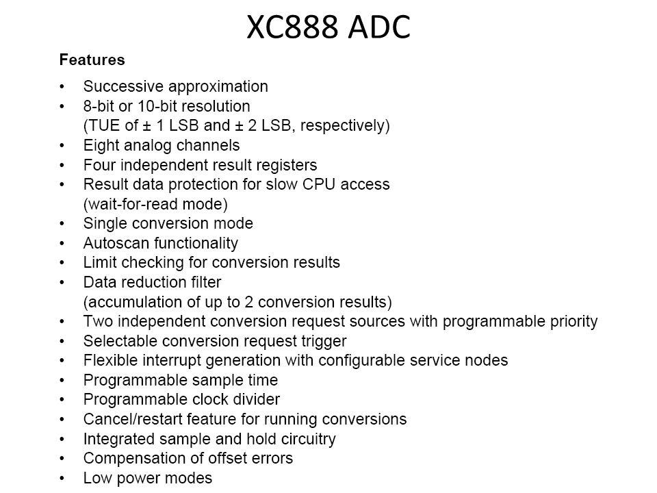 XC888 ADC
