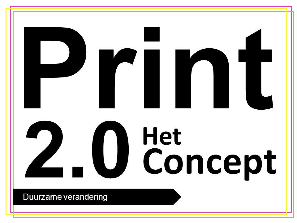 De trend Concept Print 2.0 Crossmediaal Dit doen we met behulp van Layar.
