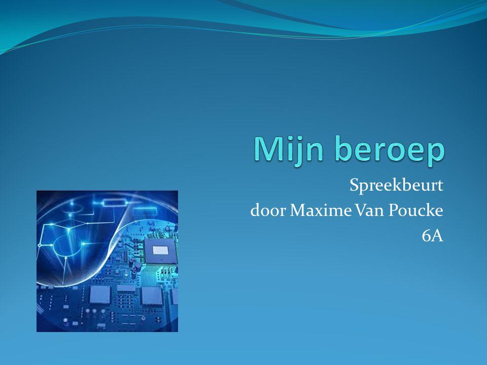Spreekbeurt door Maxime Van Poucke 6A