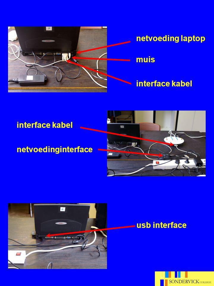 Bedieningsprotocol Coach 1.Sluit de hardware aan 2.Start de laptop op wacht geduldig tot inlog scherm verschijnt 3.Selecteer gebruiker (leerling) geen wachtwoord nodig wacht geduldig tot bureaublad verschijnt