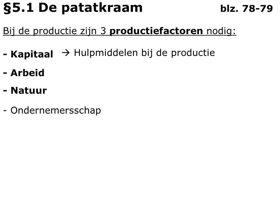 De natuur levert voor de productie: - Grondstoffen - Ruimte Gas, olie, hout §5.2 De timmerfabriek blz.