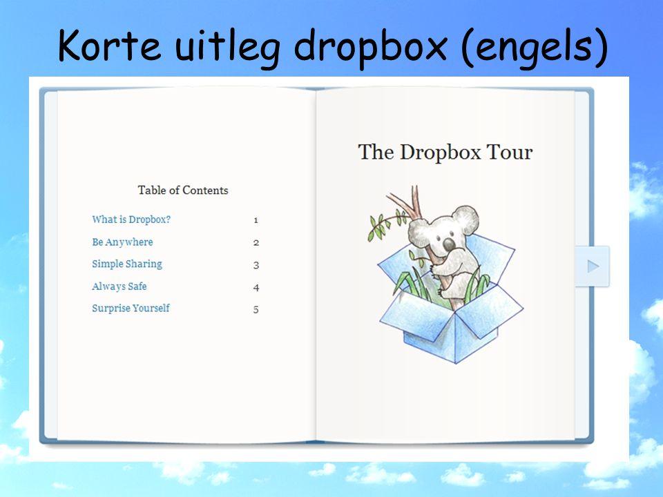 Korte uitleg dropbox (engels)