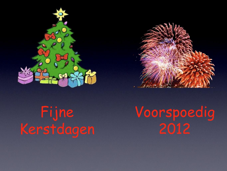 Voorspoedig 2012 Fijne Kerstdagen