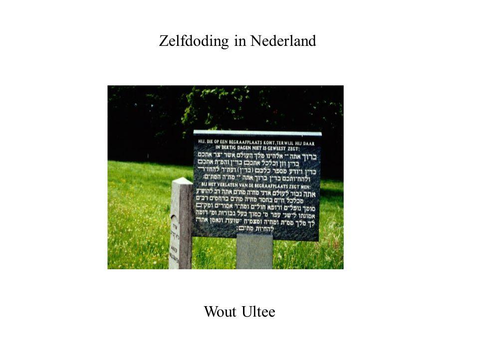 Zelfdoding in Nederland Wout Ultee