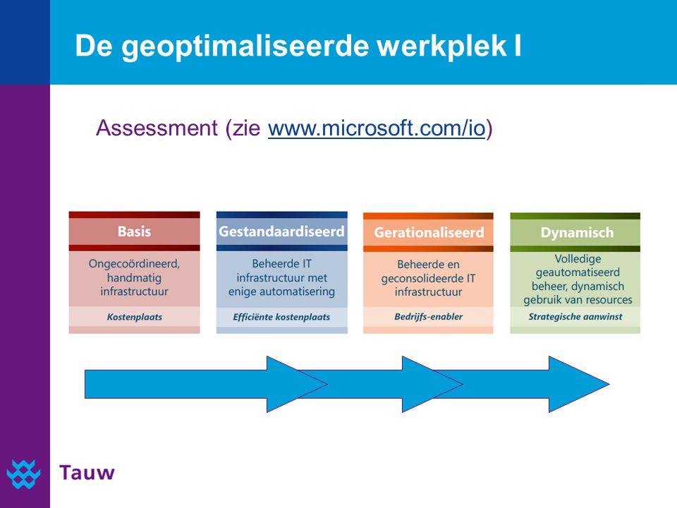 De geoptimaliseerde werkplek I IST Assessment (zie www.microsoft.com/io)www.microsoft.com/io