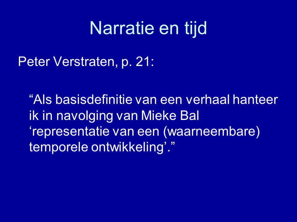 Narratie en tijd Peter Verstraten, p.