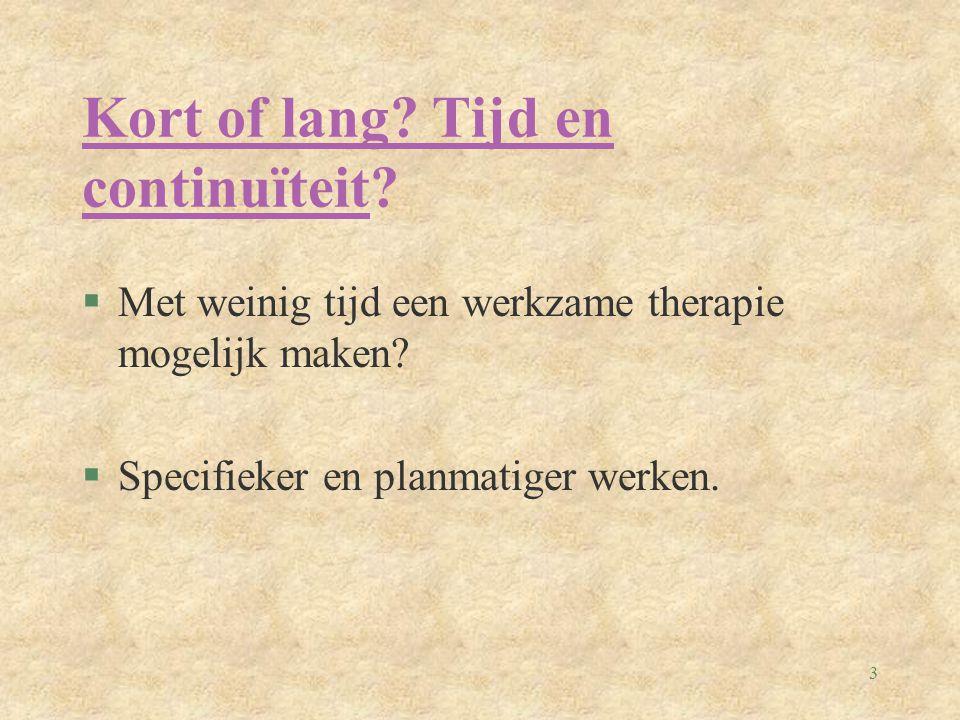 4 §Wat is de essentie van therapie eigenlijk.