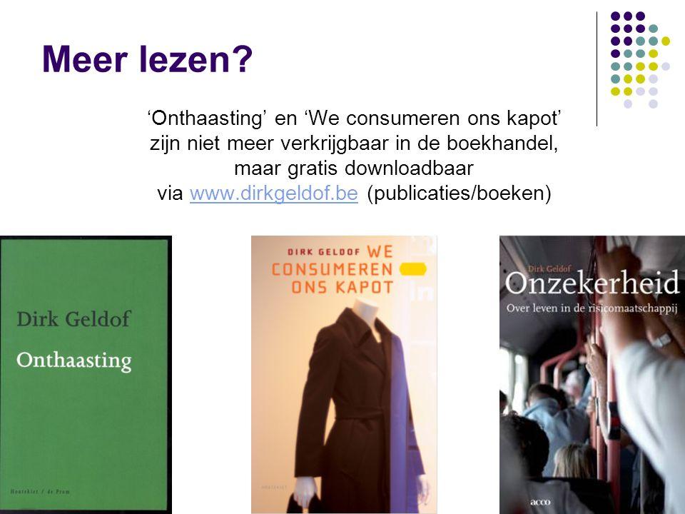 www.dirkgeldof.be12 Meer lezen.