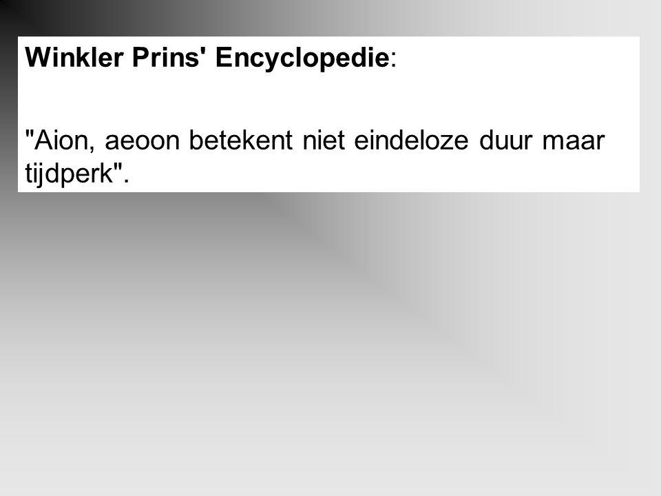 Winkler Prins' Encyclopedie: