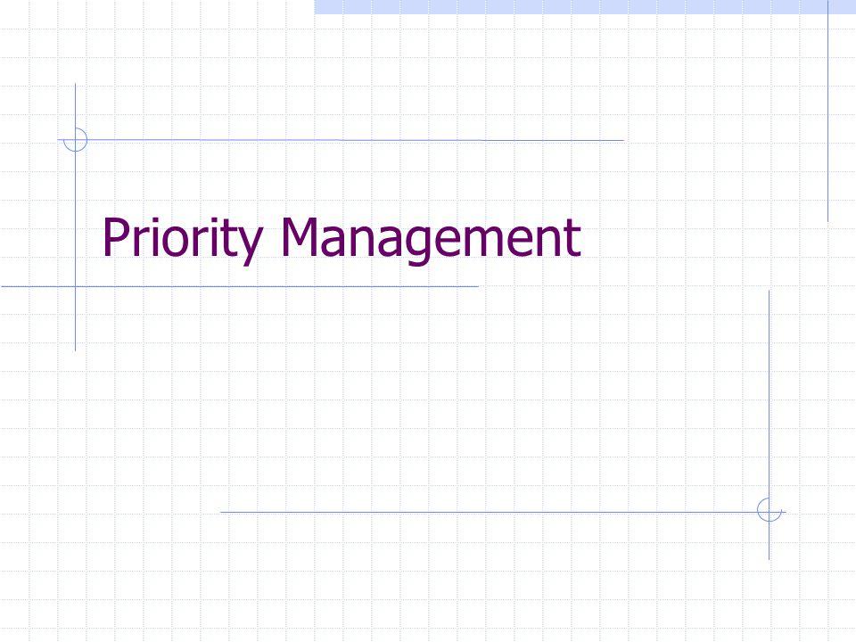 Priority Management