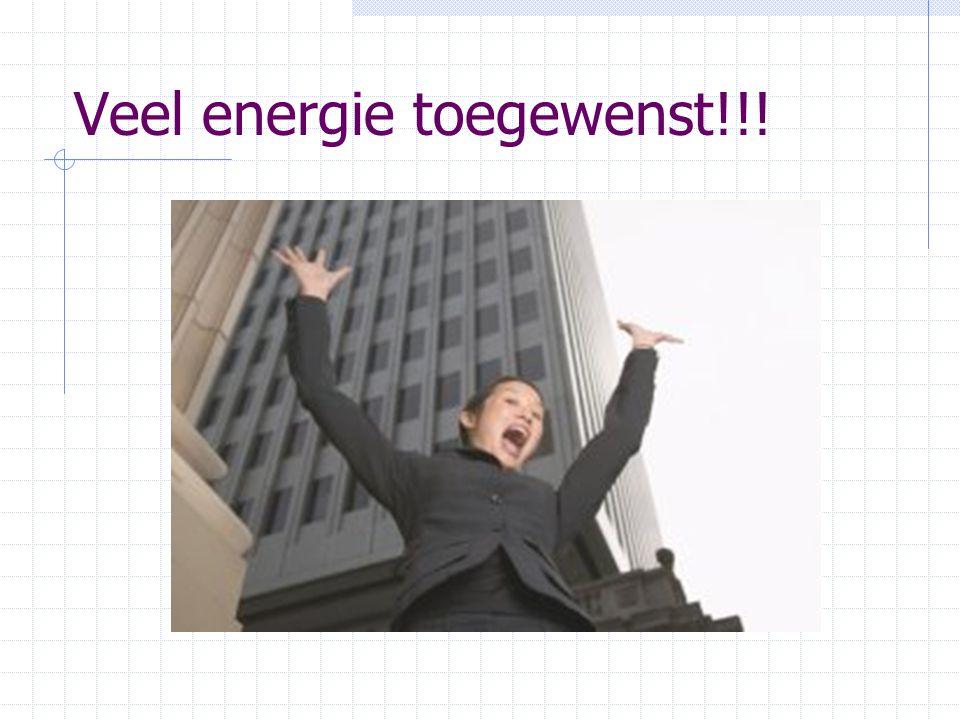 Veel energie toegewenst!!!