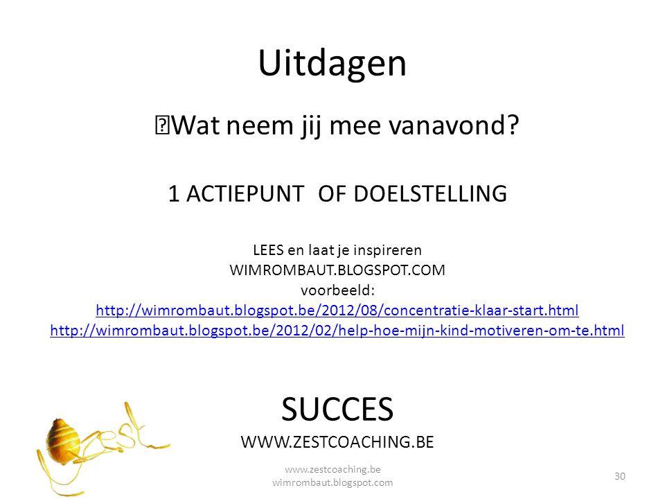 Bronnen > met dank aan Jef Clement Inspirerend Coachen www.centerforselfmanagement.com Sir Ken Robinson Het Element Waar passie en talent samenkomen www.