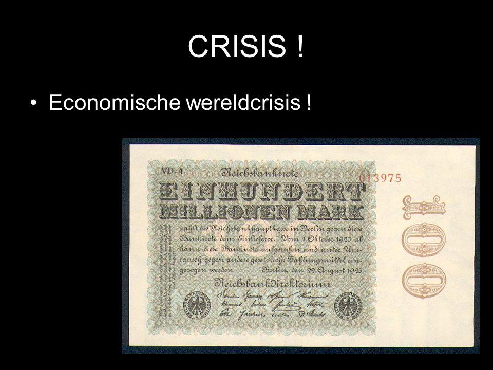 © Stef van der Velden 2011 CRISIS ! Economische wereldcrisis !