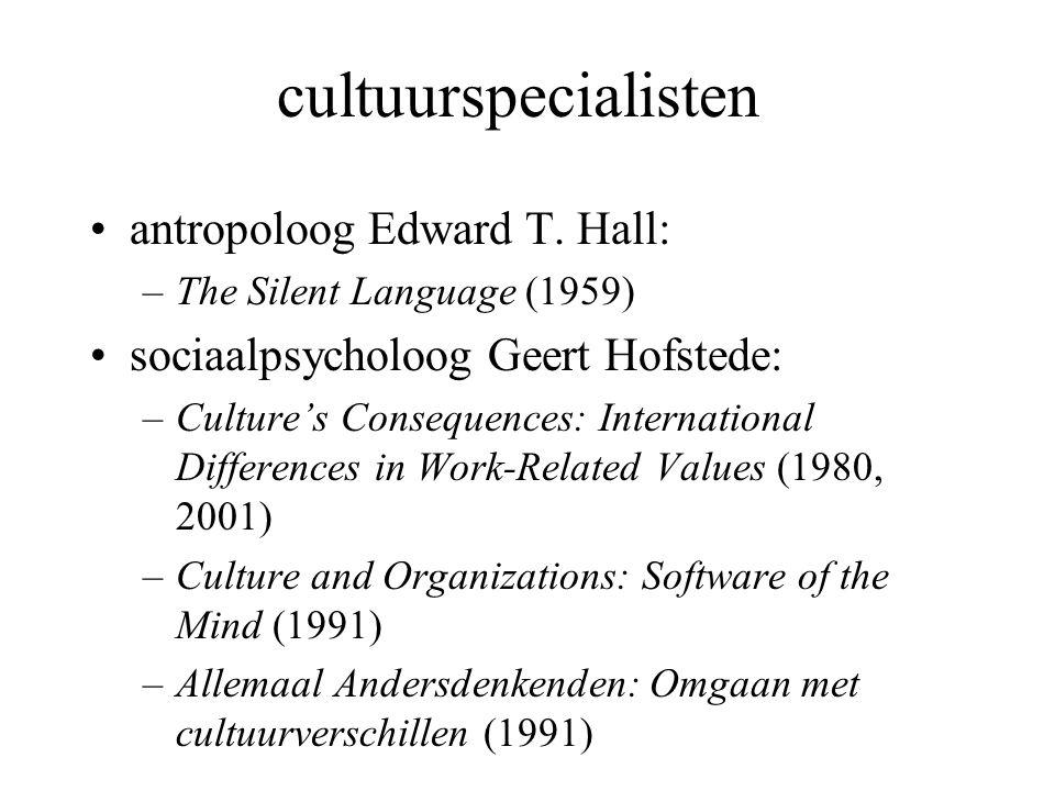 cultuurspecialisten antropoloog Edward T.