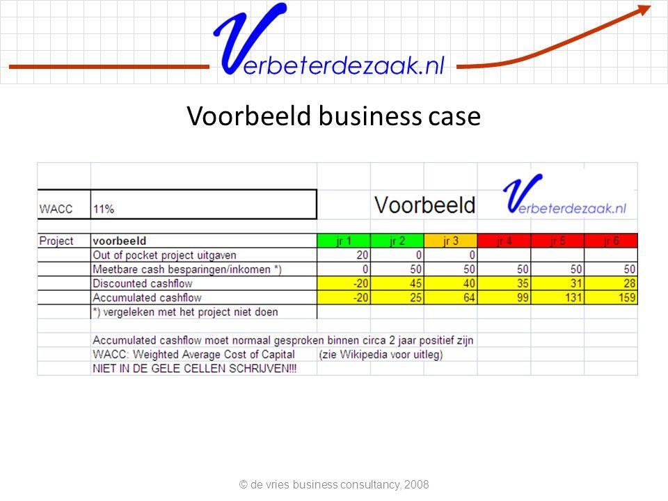 erbeterdezaak.nl Voorbeeld business case © de vries business consultancy, 2008