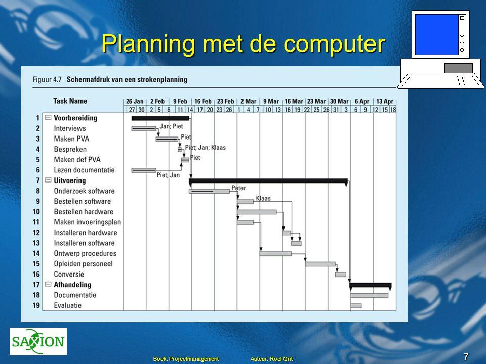 7 Planning met de computer