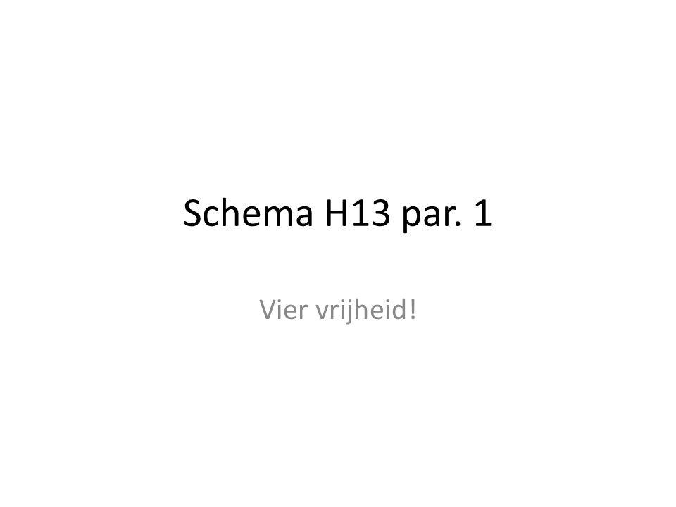 Schema H13 par. 1 Vier vrijheid!