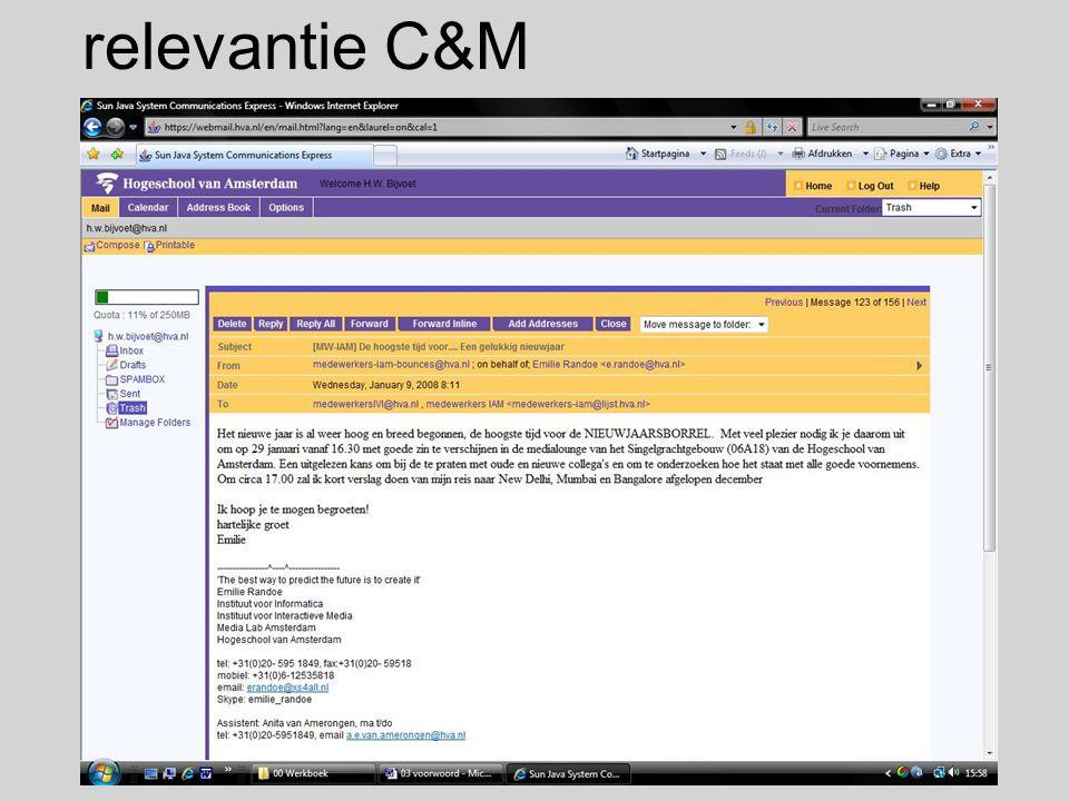 relevantie C&M