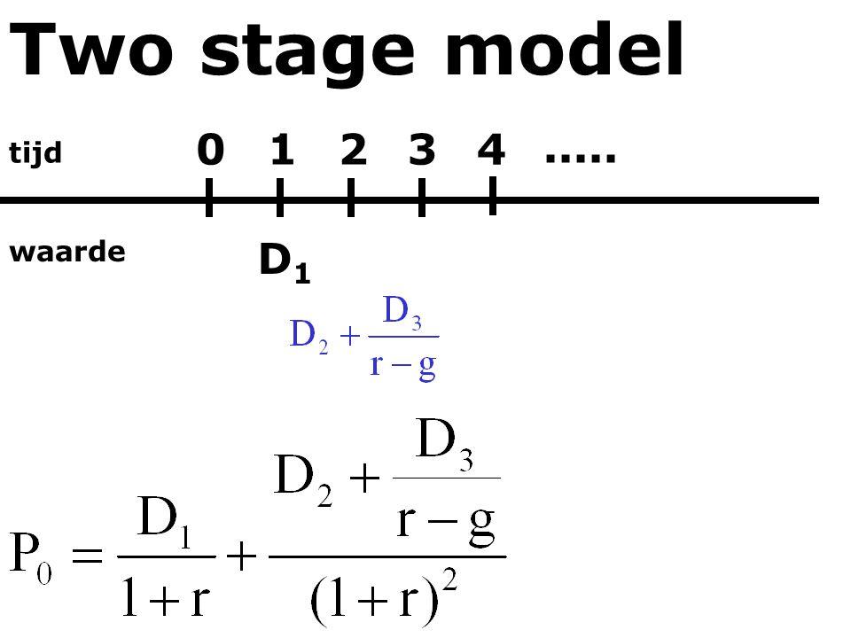 Two stage model tijd waarde 01234 D1D1.....