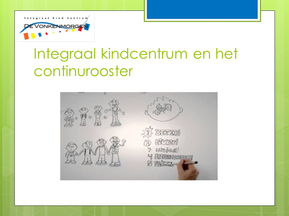 Integraal kindcentrum en het continurooster