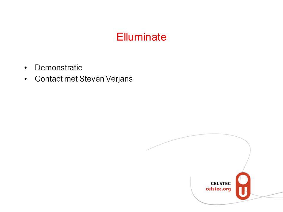 Elluminate Demonstratie Contact met Steven Verjans