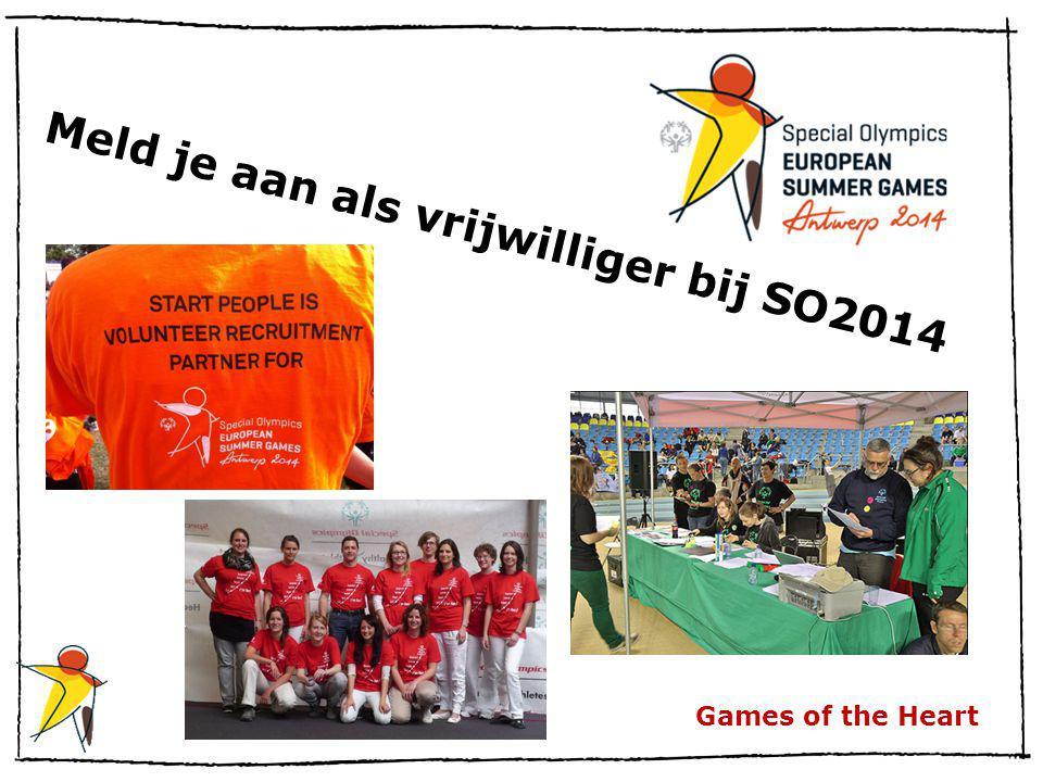 Games of the Heart Meld je aan als vrijwilliger bij SO2014