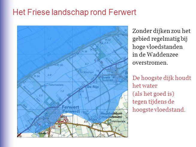Het Friese landschap rond Ferwert Zonder dijken zou het gebied regelmatig bij hoge vloedstanden in de Waddenzee overstromen. De hoogste dijk houdt het