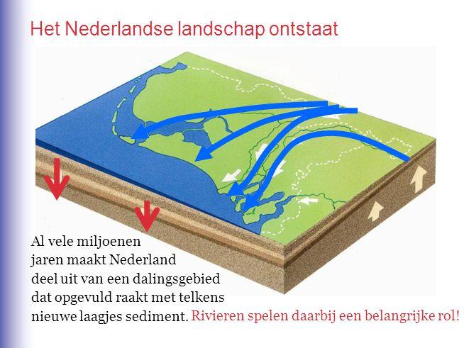 Het Nederlandse landschap ontstaat Al vele miljoenen jaren maakt Nederland deel uit van een dalingsgebied dat opgevuld raakt met telkens nieuwe laagje