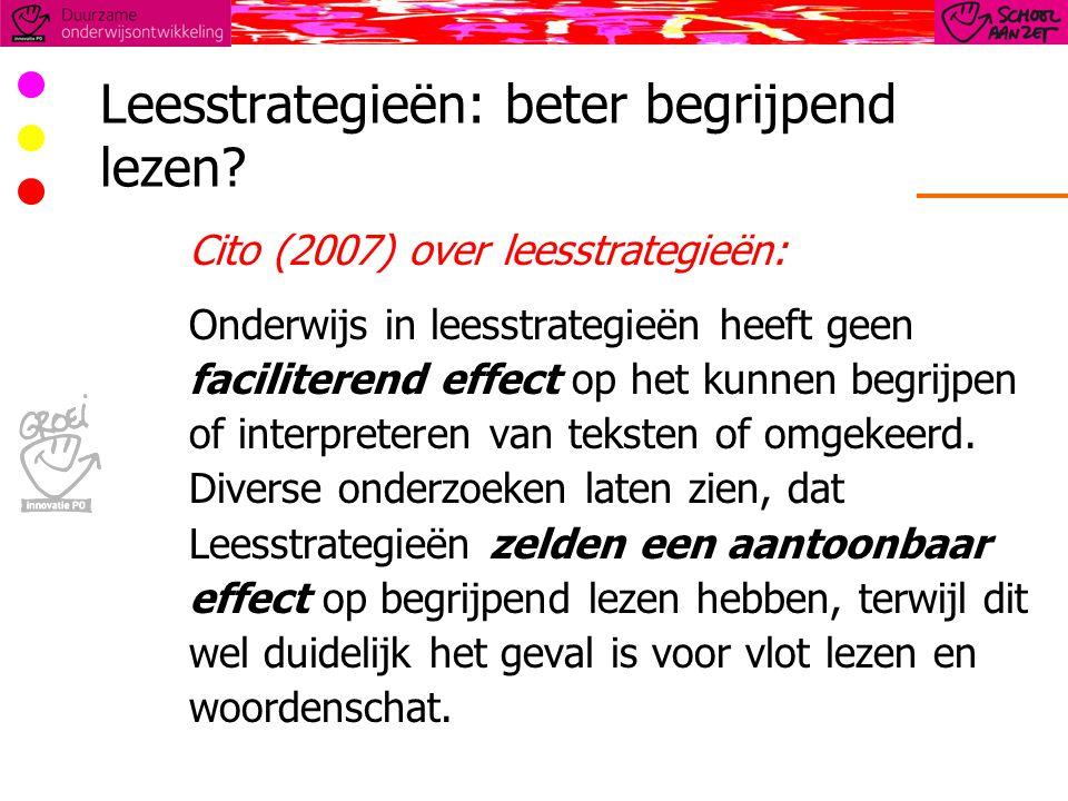 Leesstrategieën: beter begrijpend lezen.