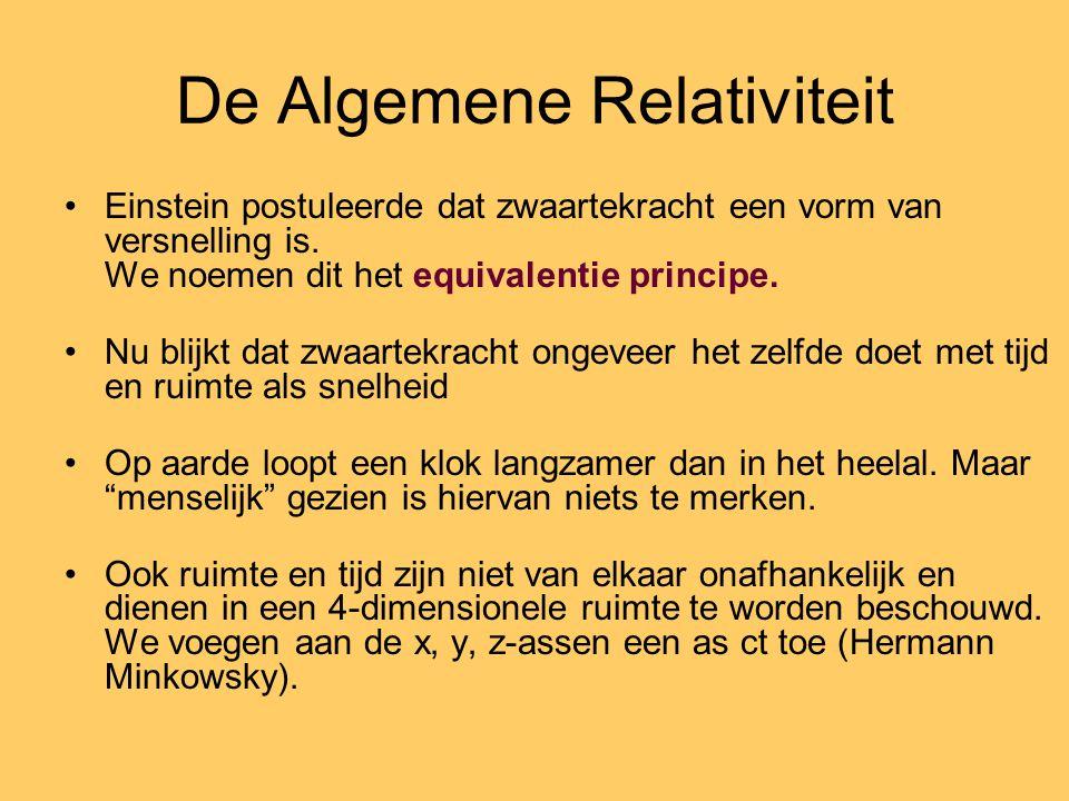 De Algemene Relativiteit Einstein postuleerde dat zwaartekracht een vorm van versnelling is.
