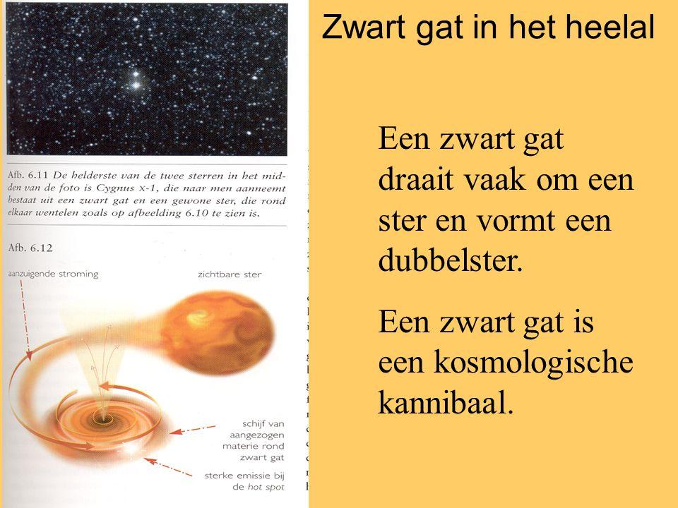Een zwart gat draait vaak om een ster en vormt een dubbelster.