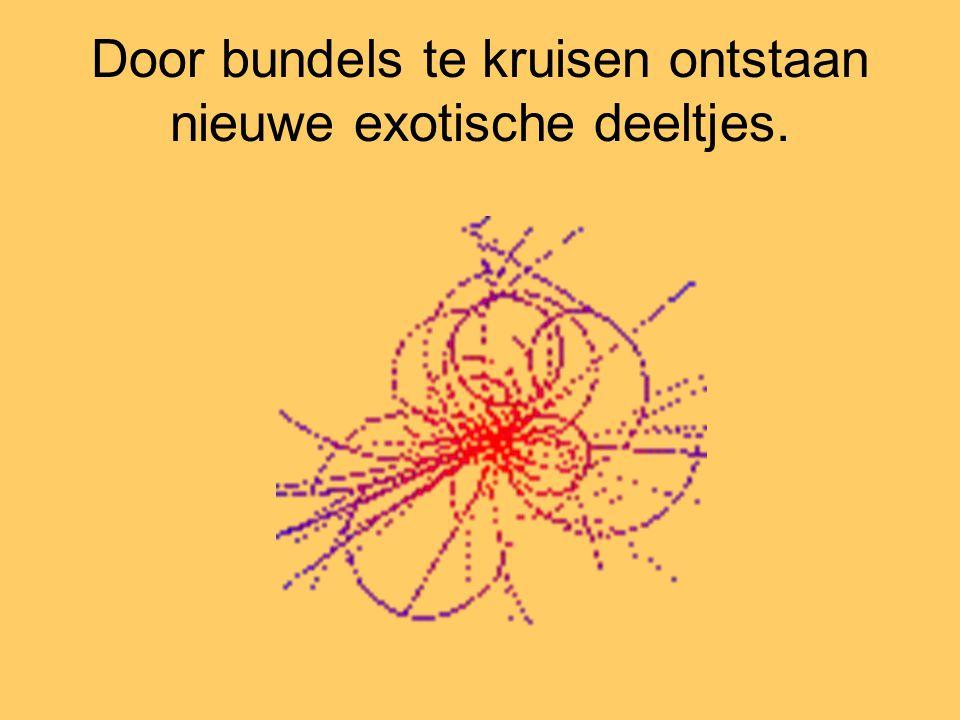 Door bundels te kruisen ontstaan nieuwe exotische deeltjes.