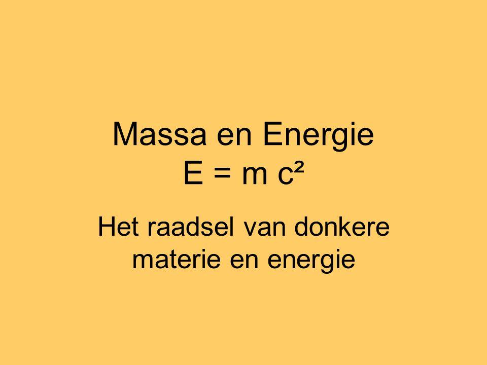 Massa en Energie E = m c² Het raadsel van donkere materie en energie