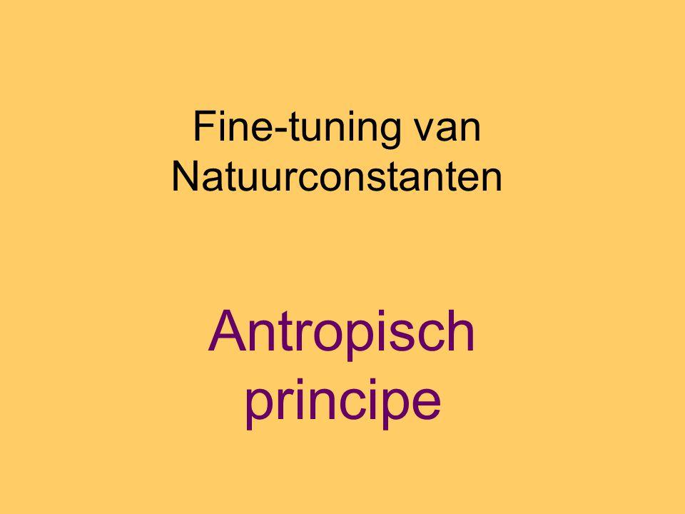 Fine-tuning van Natuurconstanten Antropisch principe